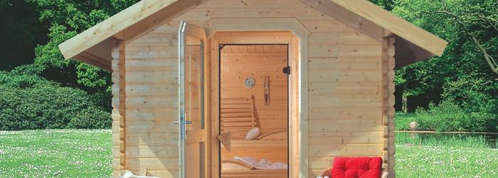 Blockbohlen Sauna